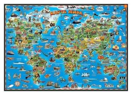 Детская карта мира АГТ Геоцентр GT2776 малая