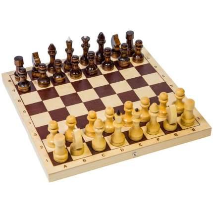 Шахматы обиходные лакированные деревянные Shantou Gepai
