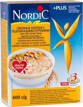 Хлопья овсяные Nordic с пшеничными отрубями 600 г