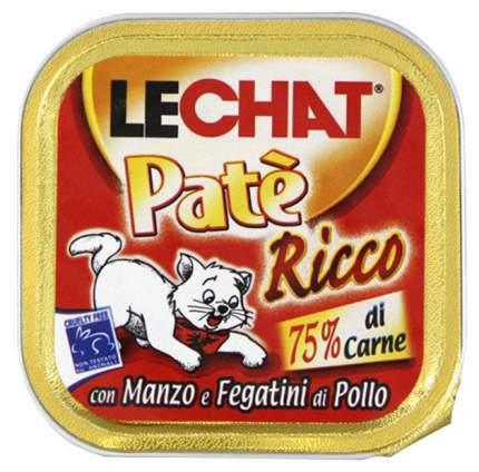 Консервы для кошек Lechat, говядина, курица, 100г