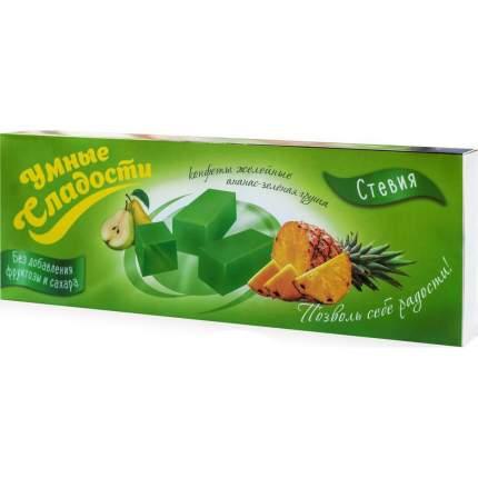 Конфеты Умные сладости желейные со вкусом ананас-зеленая груша 90 г