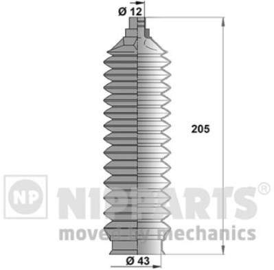 Пыльник рулевой рейки Nipparts J2843008