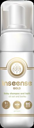 Шампунь-пенка INSEENSE для купания универсальная с пенообразователем GOLD 160 мл
