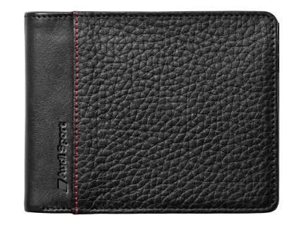 Мужской кожаный кошелек Audi Sport Men's Mini Wallet Leather, Black, артикул 3141700800