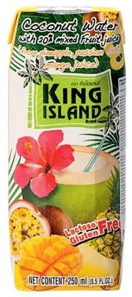 Вода кокосовая King Island с фруктовым соком ананас, маракуйя, манго 250 мл