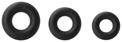 Набор колец из мягкого силикона Renegade Super Soft Power Rings Black, черный