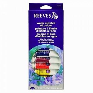 Масляные краски Reevs Watermixable 12 цветов