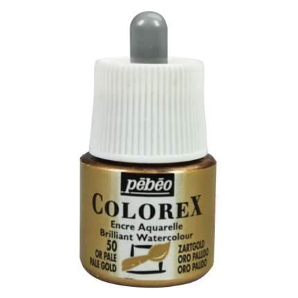 Акварельные чернила Pebeo Colorex бледное золото 45 мл