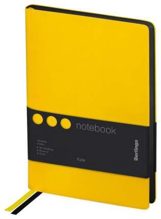 Записная книжка Berlingo Fuze, А5, 80 листов, кожзам, цветной срез, Желтый
