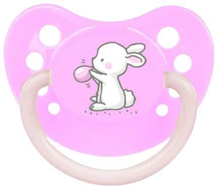 Пустышка анатомическая Canpol Little cuties силикон, 6-18 мес., арт. 23/263, цвет розовый
