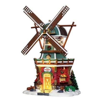 Lemax Композиция Ветряная мельница, 30*22 см, движение, подсветка 25384