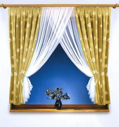 Классические шторы КаСЛ Romashki Цвет: Бежевый