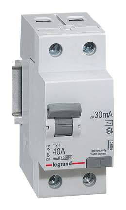 "Выключатель дифференциального тока ""TX3"", 2 п, 2 м, 40 А, 30 мА, АС, арт. 403001"