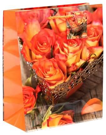 """Пакет подарочный """"Бутоны оранжевых роз"""""""