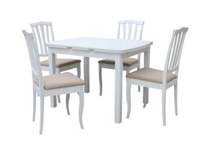 Обеденная группа для столовой и гостиной Mebwill Орлеан Сити Белый матовый / Белый