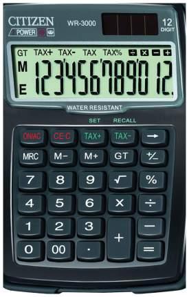 Калькулятор Citizen WR-3000, 12 разрядов, двойное питание, 152x106 мм