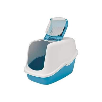 Туалет для кошек Savic Nestor, прямоугольный, синий, белый, 56х39х38,5 см