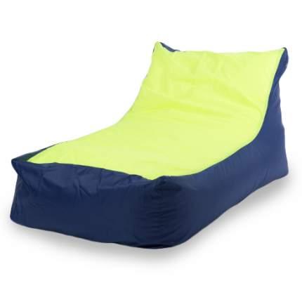 Кресло-мешок ПуффБери Кушетка Оксфорд, размер XXL, оксфорд, синий; лайм