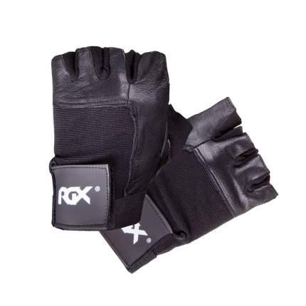 Перчатки для тяжелой атлетики и фитнеса RGX PWG-93, черные, M