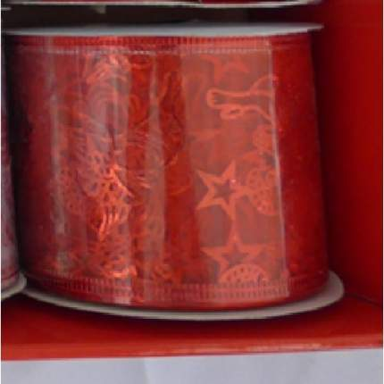 Лента декоративная Феникс Present звезды, 6,3x270 см