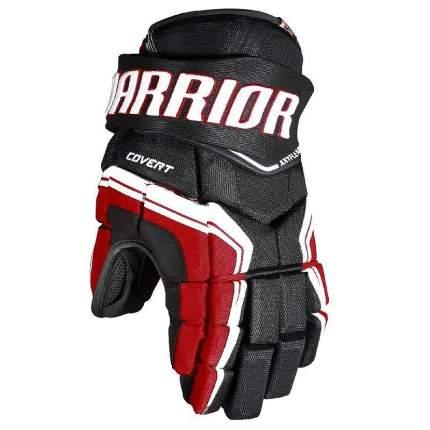 Перчатки хоккейные Warrior QRE3, 10 белые/красные/черные