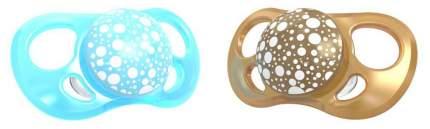 Пустышка Twistshake Pearl, цвет: синий и медный, 2 штуки (small)