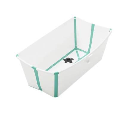 Ванночка с горкой Stokke Flexi Bath Bundle, Tub with Newborn Support White Aqua