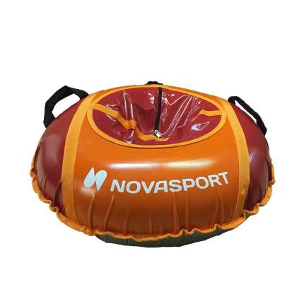 Тюбинг NovaSport 110 см с камерой в сумке СН041.110.3.1 оранжевый красный