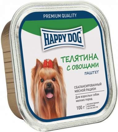 Консервы для собак Happy Dog, для мелких пород, паштет, телятина с овощами, 100г