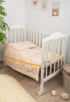 Комплект детского постельного белья Тайна Снов Оленята 3 предмета бежевый