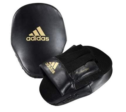 Лапы adidas Curved Speed Mesh Coach Mitts черно-золотые