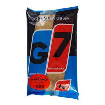 Прикормка Gf G-7 для ловли карася и карпа, 1 кг, чеснок