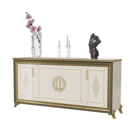 Комод 4-х дверный Мэри-Мебель Версаль ГВ-05 слоновая кость, 189х52х92 см.