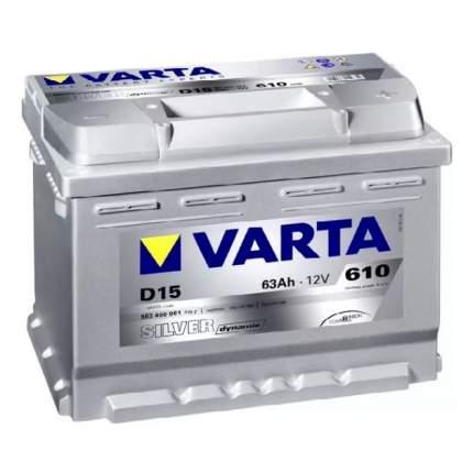 Аккумуляторная Батарея Silver Dynamic 19.5/17.9 Евро 63ah 610a 242/175/190 Varta
