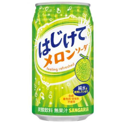 Напиток  Sangaria melon со со вкусом дыни жестяная банка 0.35 л
