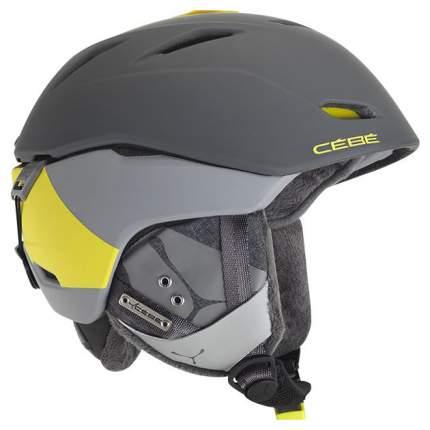 Горнолыжный шлем мужской Cebe Atmosphere Deluxe 2018, серый, S