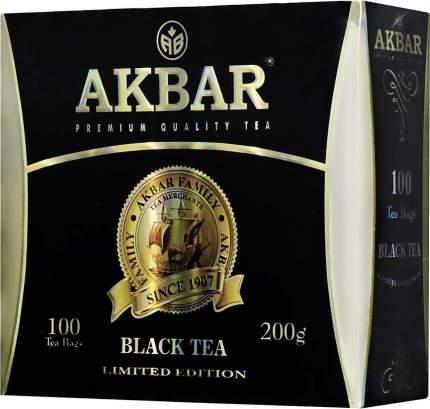 Чай черный Akbar байховый цейлонский мелкий 100 пакетиков