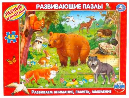 Развивающие Пазлы в рамке Умка Лесные Животные 48 деталей