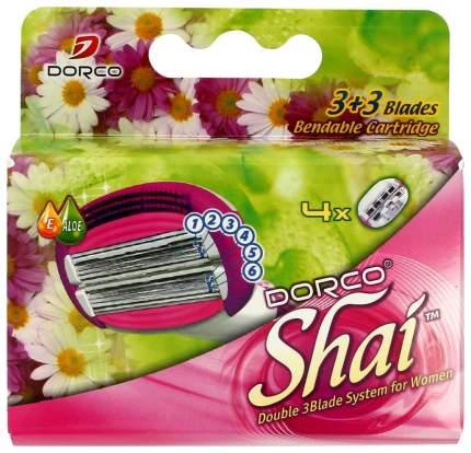 Сменное лезвие для станка Dorco Shai 3 plus 3 Blade 4 Bandable Cartridges