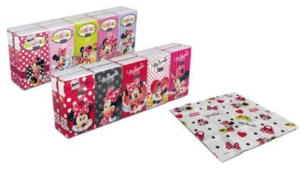 Бумажные платки World Cart Минни Маус 4-х слойные, 10 пачек, 21х21 см, 238 г