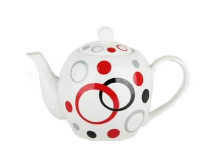 Чайник заварочный Коралл 1323 Фантазия Белый; красный