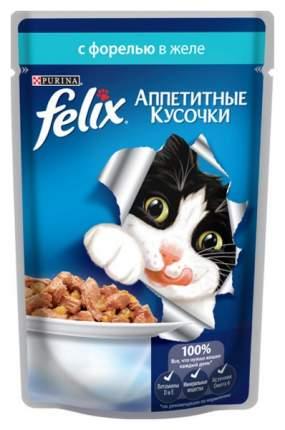 Влажный корм для кошек Felix Sensation, рыба, 24шт, 85г