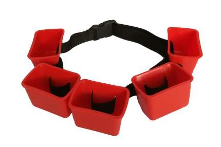 Тормозной пояс для плавания MadWave Break Belt красный