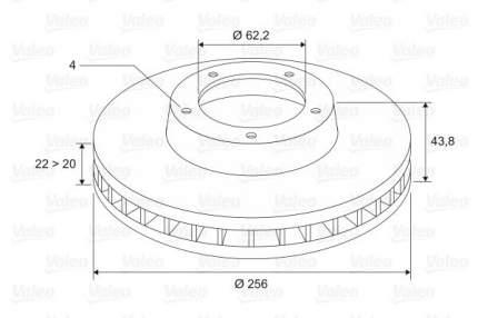 Тормозной диск Valeo 297455