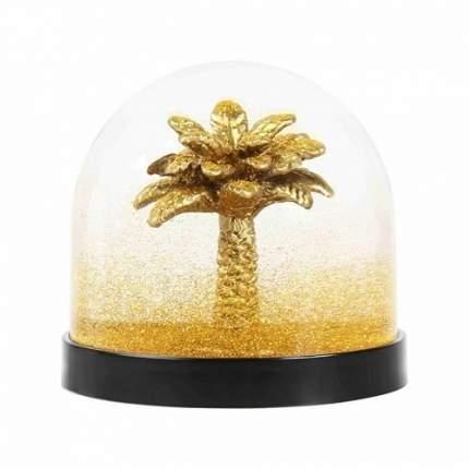 """Снежный шар """"Wonderball palm tree gold glitter"""", 8,5 см"""