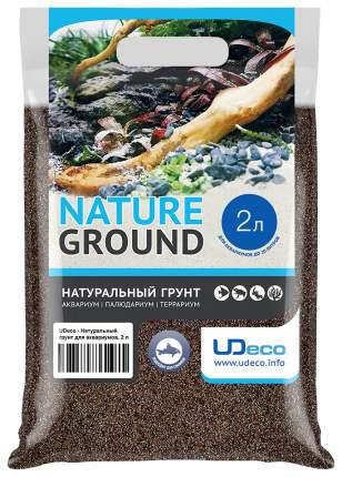 Натуральный песок для аквариумов и террариумов UDeco River Brown, бежевый, 0,1-0,6 мм, 2 л