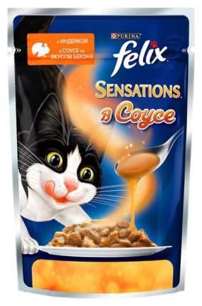 Влажный корм для кошек Felix Sensation, индейка, 24шт, 85г