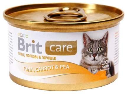 Консервы для кошек Brit Care, рыба, овощи, 12шт, 80г