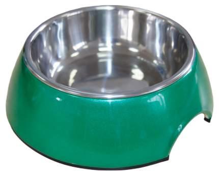Одинарная миска для кошек Super Design, металл, резина, зеленый, 0.16 л