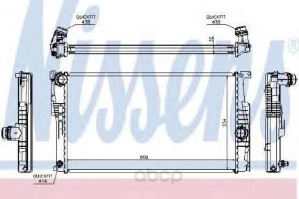 Радиатор охлаждения двигателя Nissens 60815